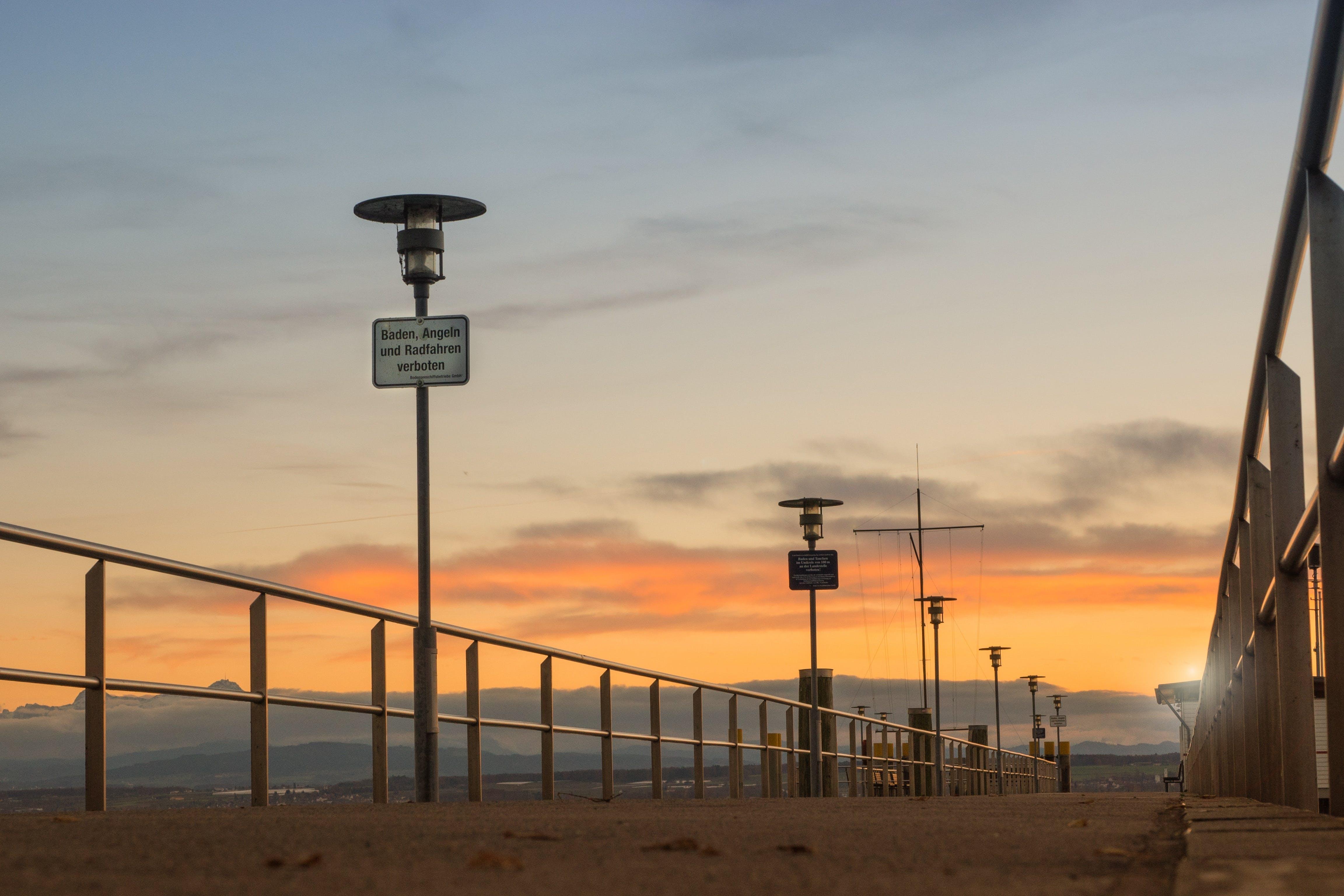 Free stock photo of jetty, nature, sky, sunset