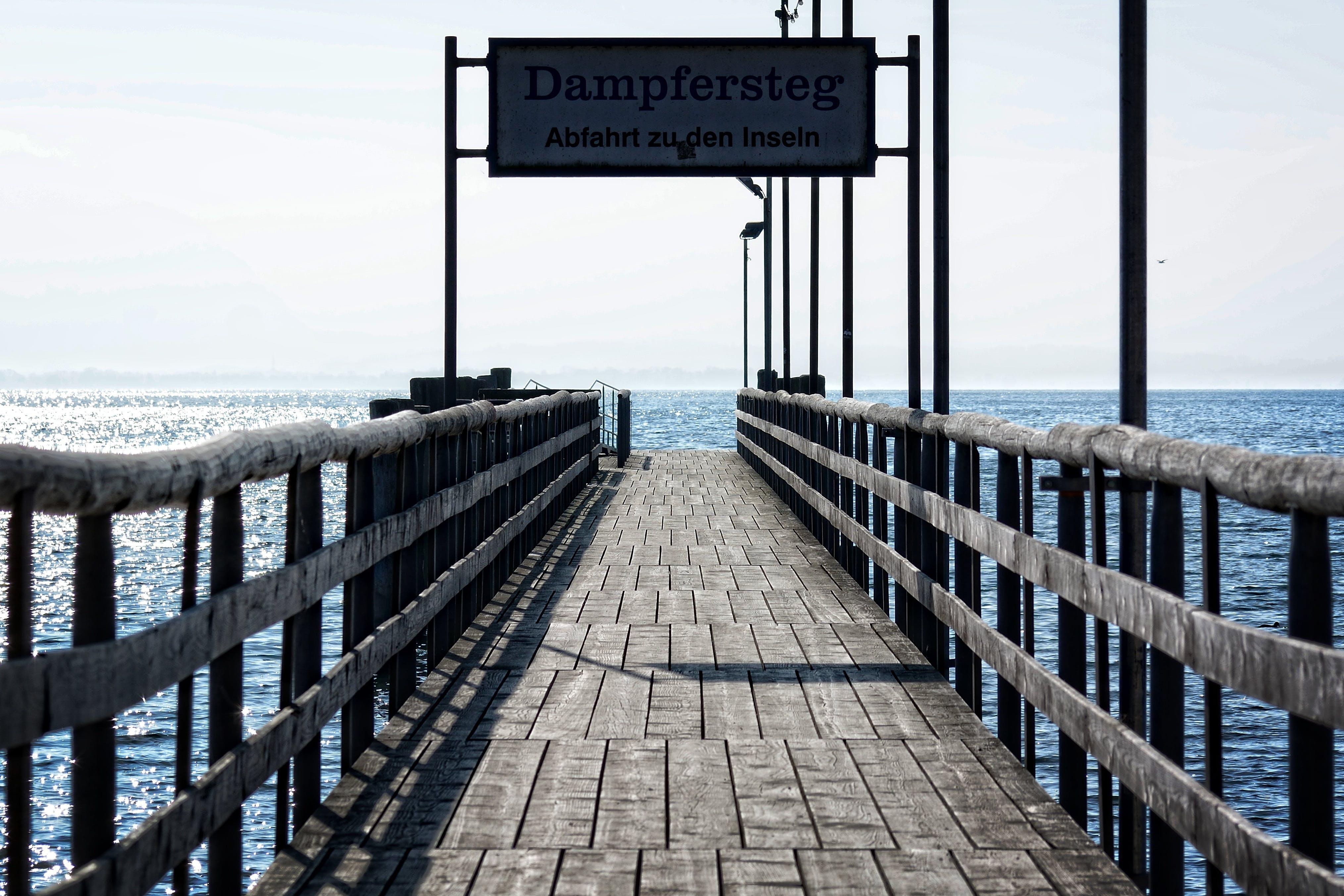 Free stock photo of atmosphere, boardwalk, departure, entry