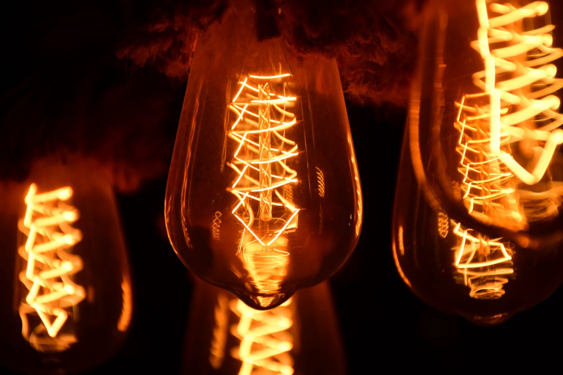 Shallow Focus Photography of Light Bulbs