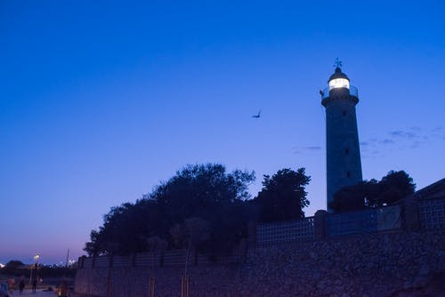 Free stock photo of blue, blue sky, lighthouse, night