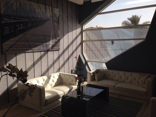 Бесплатное стоковое фото с архитектура, в помещении, гостиная, декор