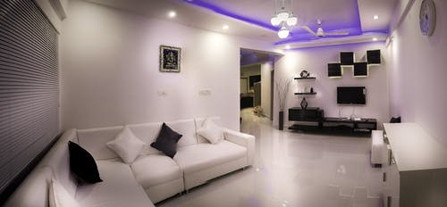 Lighted Living Room