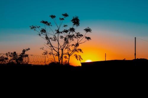 Ilmainen kuvapankkikuva tunnisteilla auringonlasku, teal ja oranssi, yötaivas