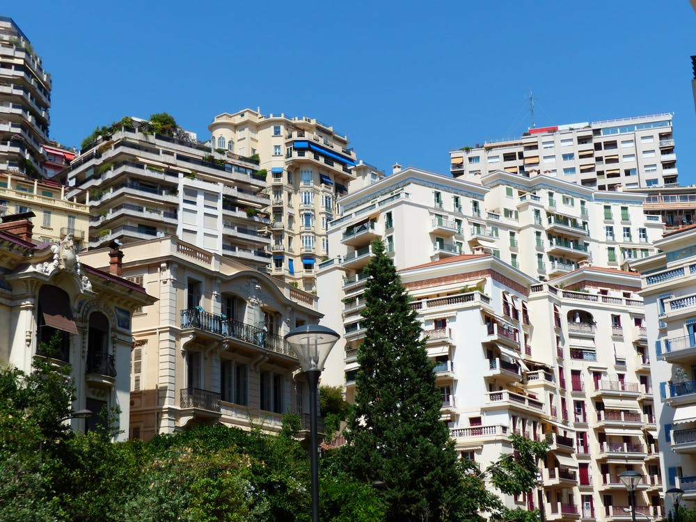 arkitektur, balkong, byggnader
