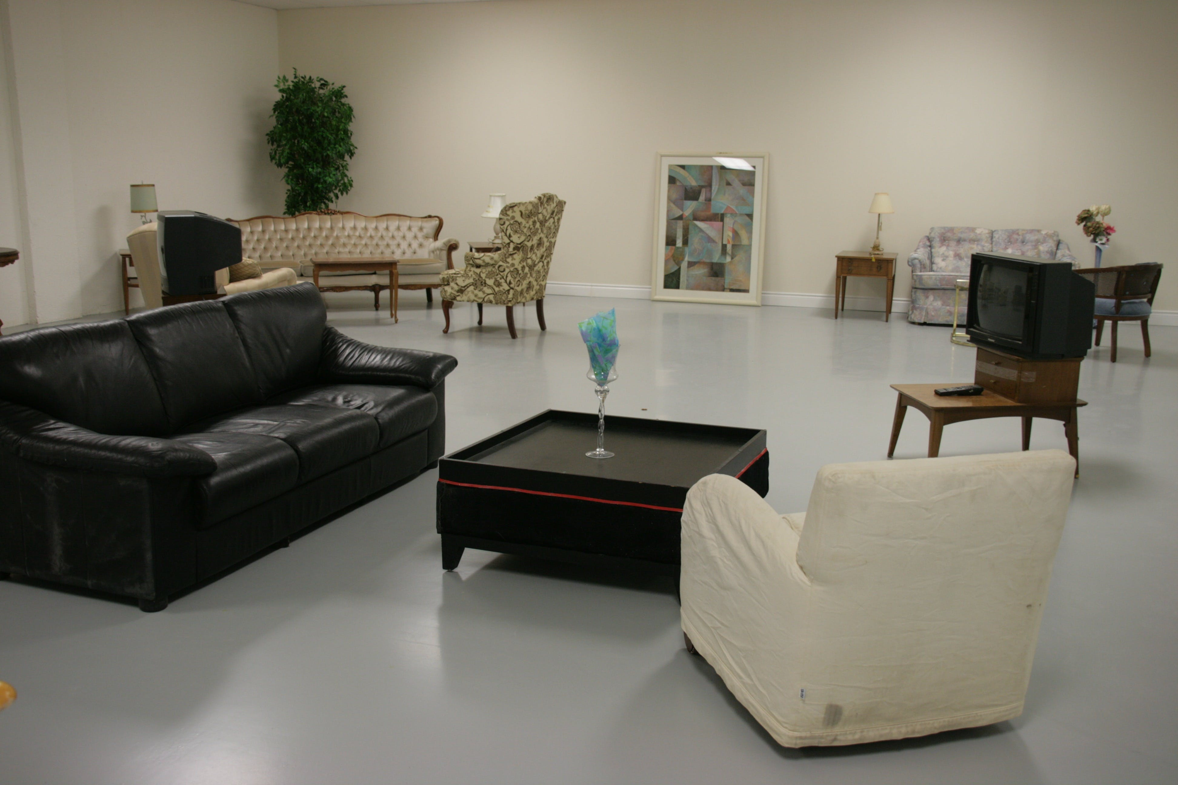 Empty Living Room Filled With Furniture