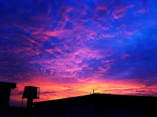 Free stock photo of beach view, Beautiful sunset, dramatic sky