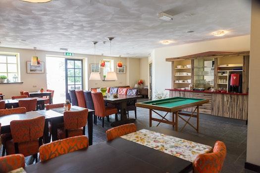 Free stock photo of restaurant, luxury, lamp, tables