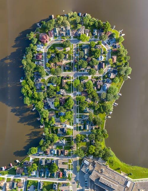 açık hava, ağaçlar, drone, drone çekimi içeren Ücretsiz stok fotoğraf