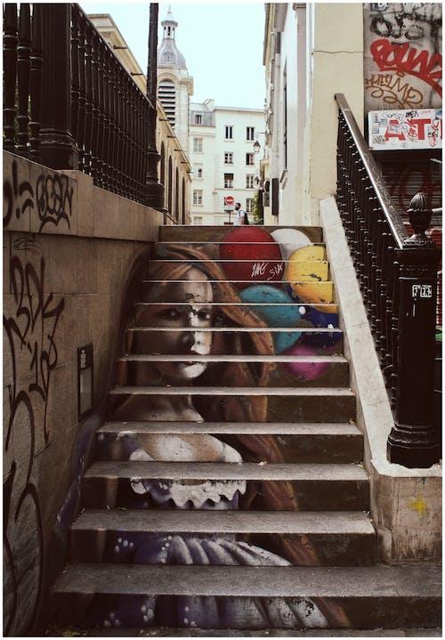 Δωρεάν στοκ φωτογραφιών με street art, αρχιτεκτονική, βήματα, γκράφιτι