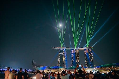 Ingyenes stockfotó Ázsiai építészet, éjszakai fények, éjszakai fotózás, holdfény témában