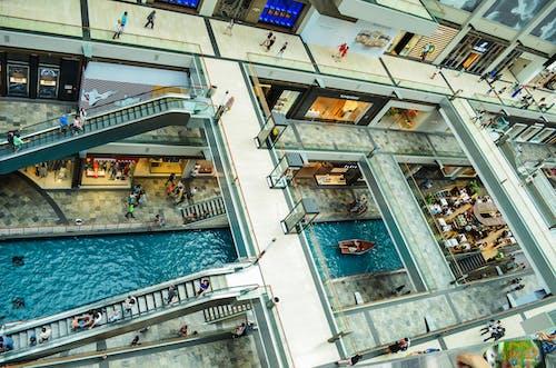 Free stock photo of asian people, building interior, escalators