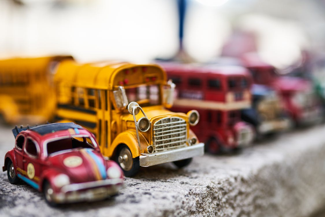 beton, biler, bus