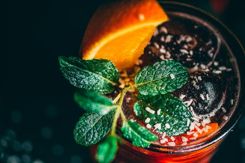 Бесплатное стоковое фото с апельсин, листья, листья мяты, мята