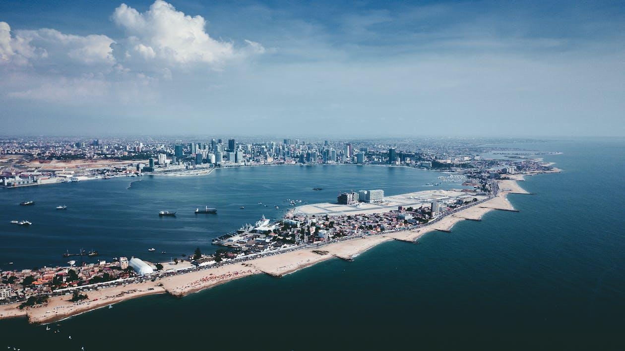 Aerial Photo of Buildings Near Coast