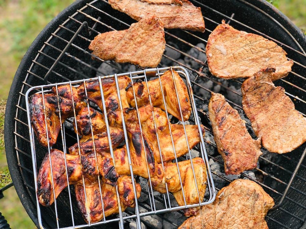 barbecue, ciepło, dym