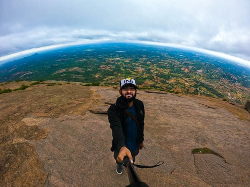 Free stock photo of adventure, gopro, hilltop, mountains