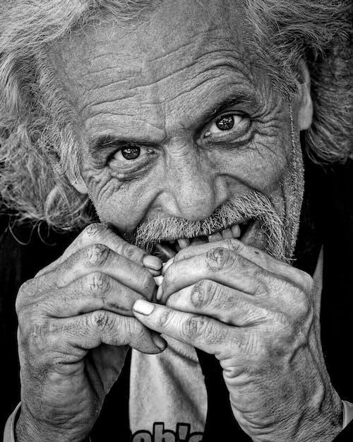 Immagine gratuita di adulto, affamato, anziano, baffi