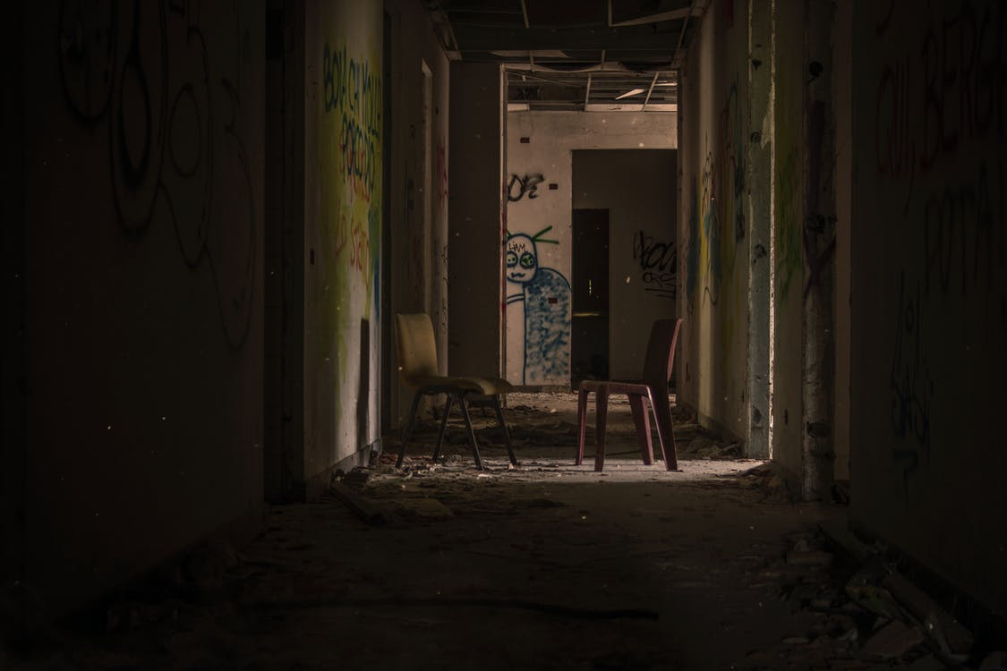 Two Chairs on Hallway