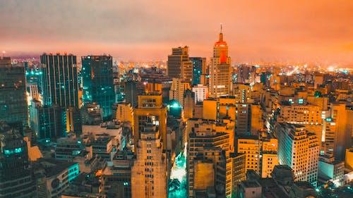 Ingyenes stockfotó alkonyat, belváros, éjszaka, építészet témában
