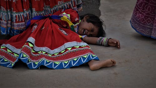 Free stock photo of cry, festival of india, girl, Gujarat