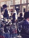 city, restaurant, man