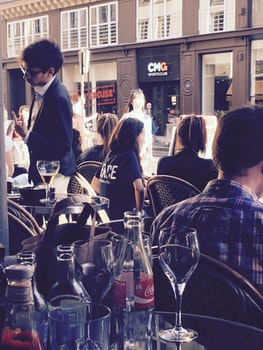 Free stock photo of city, restaurant, man, people