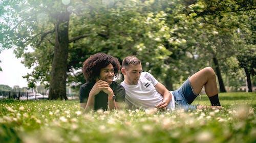 一對, 休閒, 公園, 夏天 的 免費圖庫相片