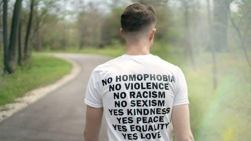 Δωρεάν στοκ φωτογραφιών με gay-h, LGBT-h, t-shirt, άνδρας