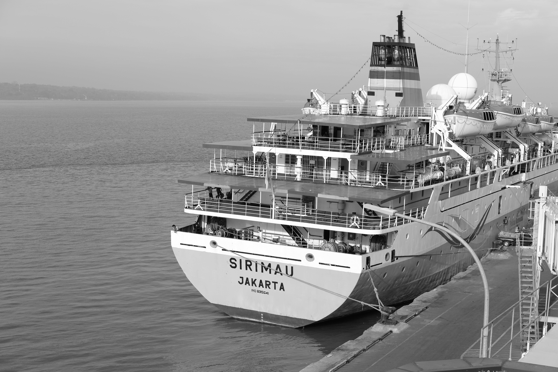 Foto d'estoc gratuïta de monocrom, port, vaixell