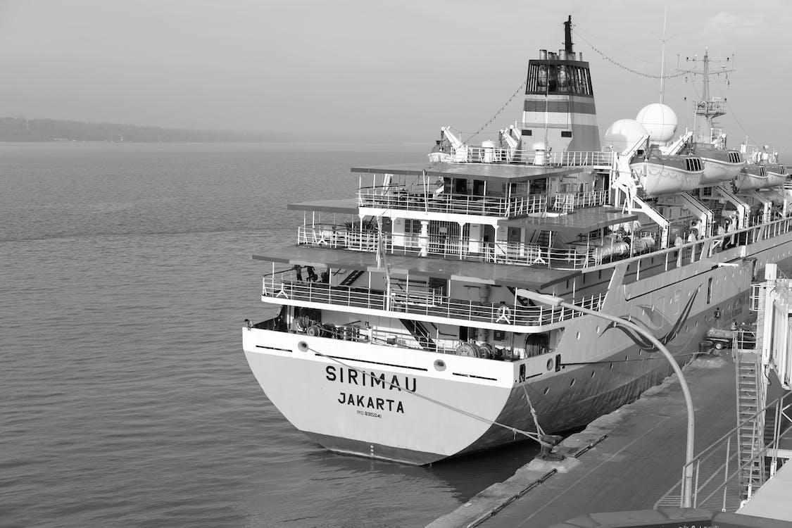 jednobarevný, loď, přístav