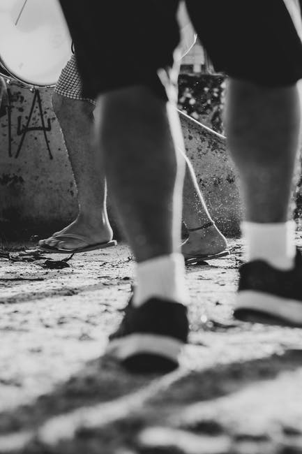New free stock photo of black and white, black-and-white, feet