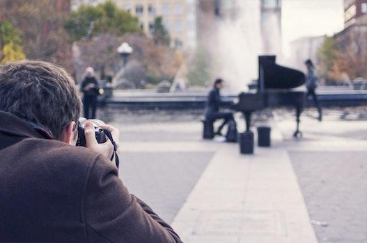 Free stock photo of man, people, art, taking photo