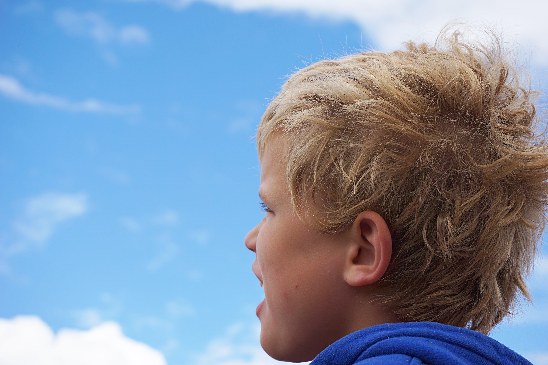 Free stock photo of cloud, watching, thinking, children