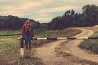 road, landscape, fashion