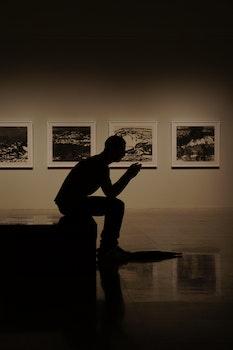 Free stock photo of light, man, person, art