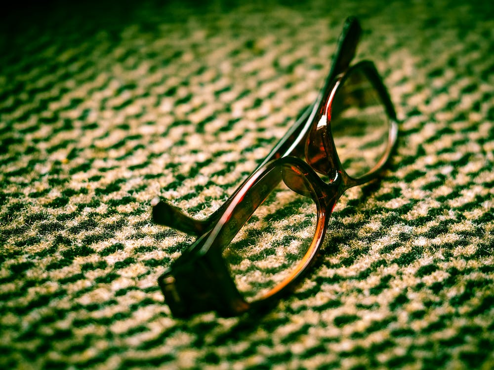 Eyeglasses With Brown Frames
