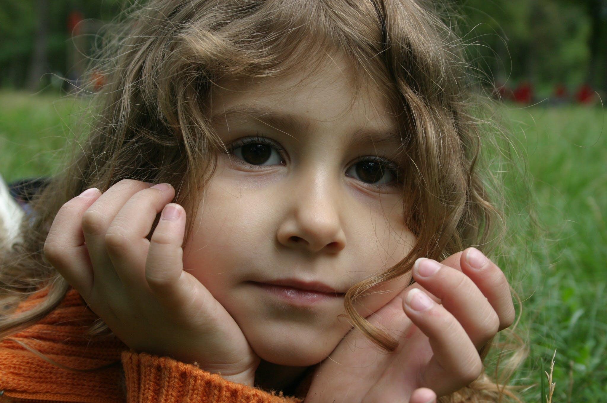 Free stock photo of girl, child, kid, facial