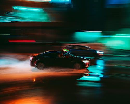 Základová fotografie zdarma na téma auta, automobily, časosběr, dlouhá expozice