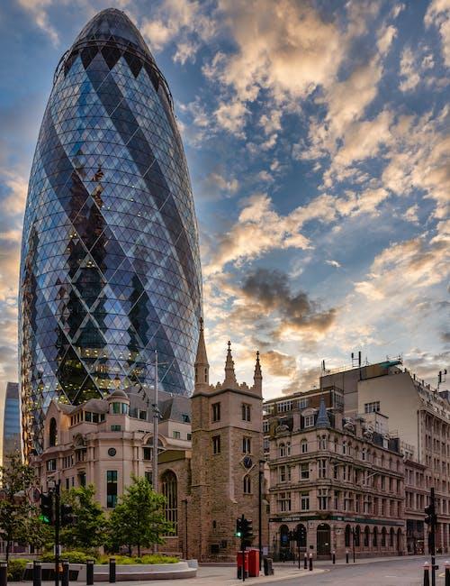 Foto d'estoc gratuïta de 30 st mary axe, Anglaterra, arquitectura, ciutat