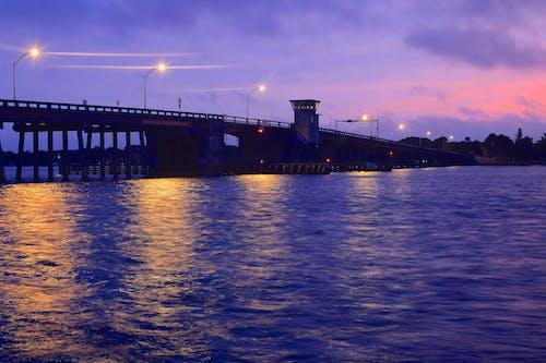 Foto stok gratis florida, jembatan pengemudi siesta, matahari terbit, siesta key