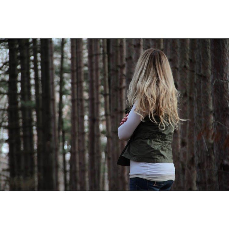 bäume, blond, fashion