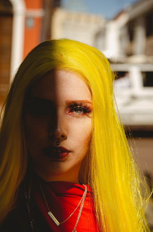 Photo of Woman With Yellow Hair