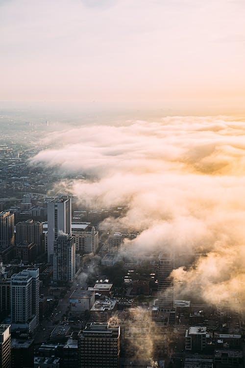 City Under A Cloudy Sky