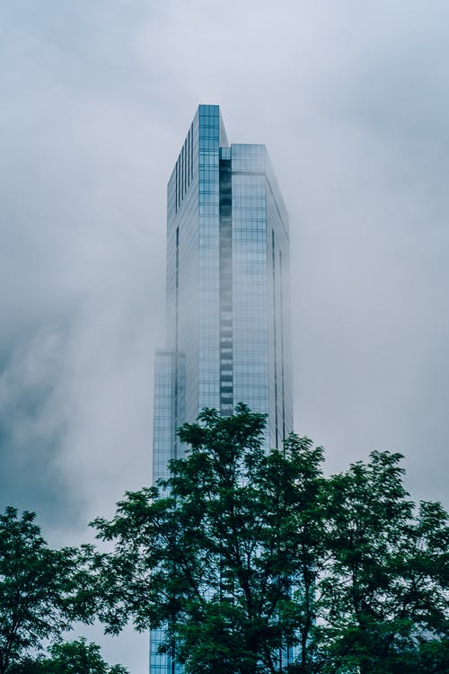 Tall Building With Fog