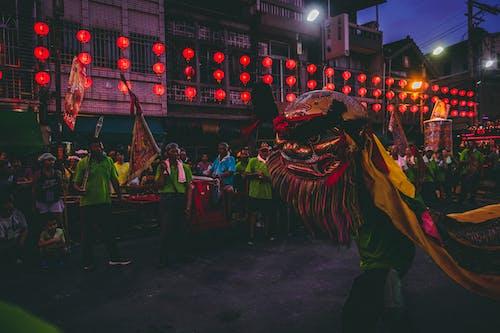 Kostenloses Stock Foto zu abend, aufführung, beleuchtung, chinesische laternen
