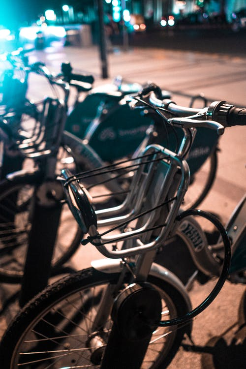Free stock photo of bikes, bokeh, city, city bikes