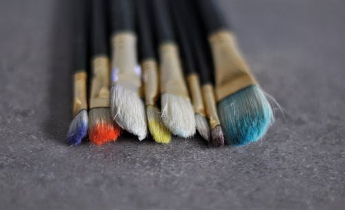 Free stock photo of arts and crafts, brushes, paint brushes