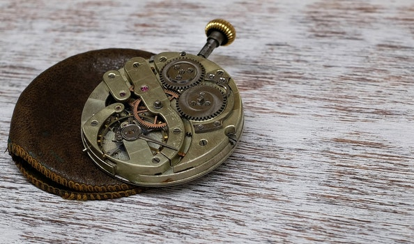 Free stock photo of old, clock, movement, pocket watch