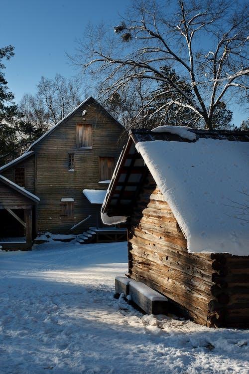 คลังภาพถ่ายฟรี ของ กระท่อม, ฤดูหนาว, หิมะ, เยตส์โรงสี