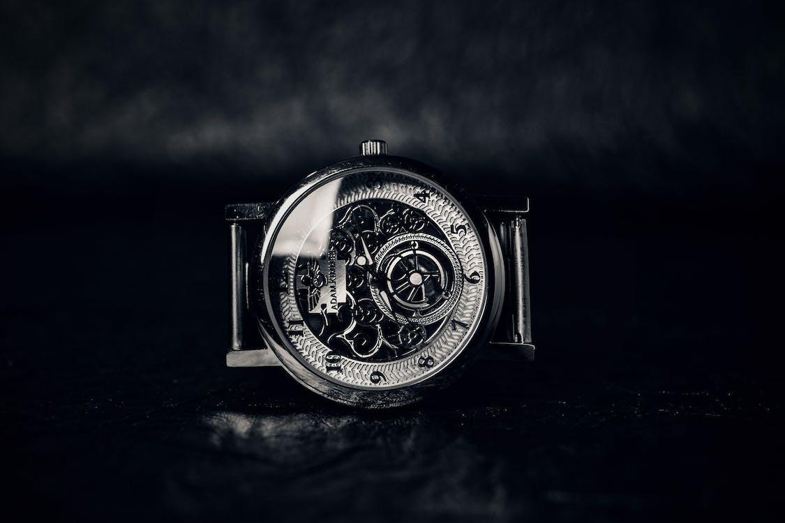 Round Skeleton Watch